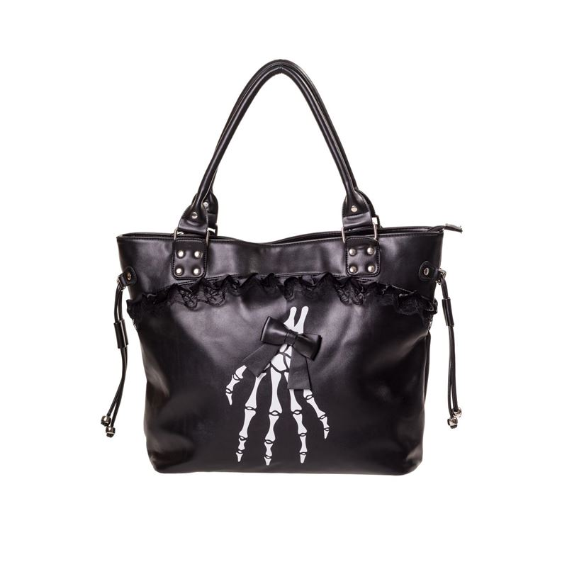 Banned Renegades Skeleton Hand Handbag Alternative Bag
