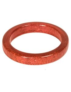 Splendette Coral Glitter Bangle
