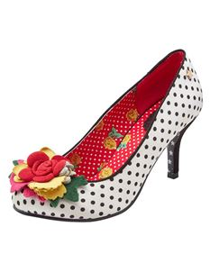 Joe Browns Meryl Polka Dot Satin Court Shoes