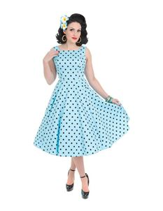 Hearts & Roses London Rhiannon Polka Dot Swing Dress