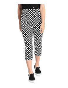 Hell Bunny Pokerface 50s Capris Cropped Check Trousers