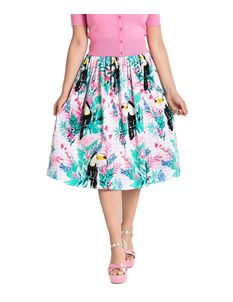 Hell Bunny Raphaella Toucan Floral 50s Style Skirt