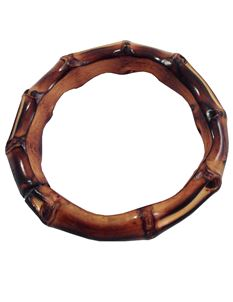 Thick Brown Bamboo Bangle By Midcentury Missy