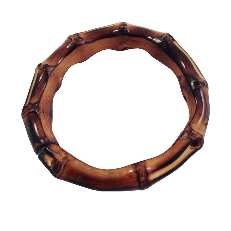Thick Brown Bamboo Bangle By Voodoo Betty