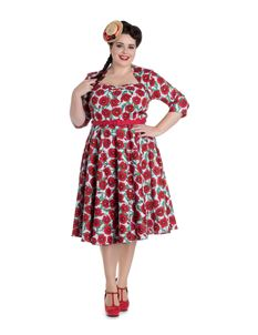 Hell Bunny - Poppy 50s Vintage Style Plus Size Dress