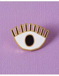 Punky Pins Abbey Withington Golden Eye Enamel Pin