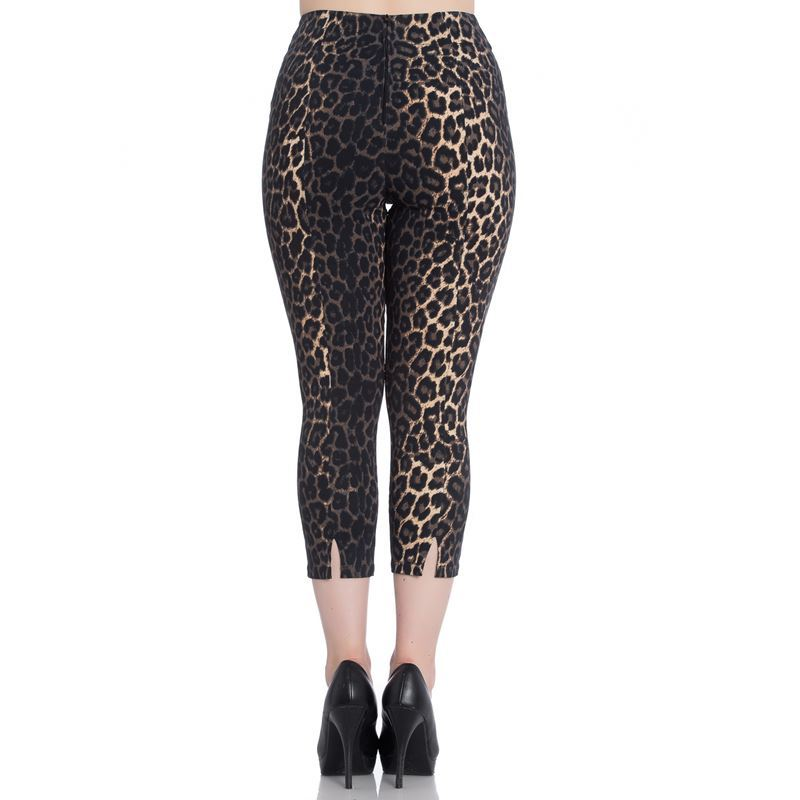 Hell Bunny Panthera Leopard 50s Capris Cropped Trousers