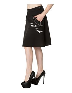 Banned Batting Eyelids Alternative Bat Short Skater Skirt