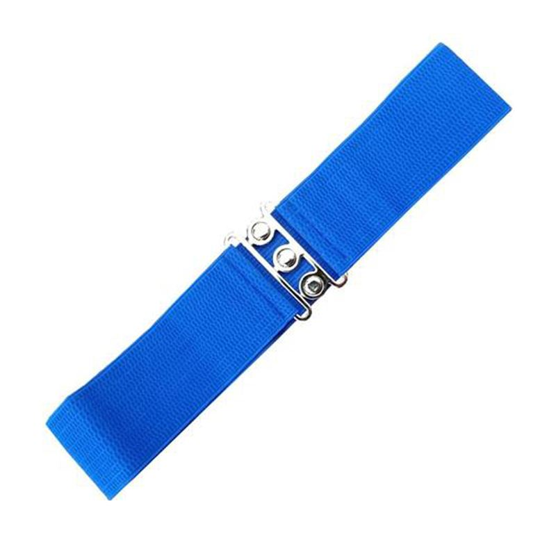 Dancing Days 50s Elasticated Stretch Royal Blue Belt