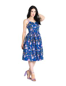 Hell Bunny Violetta 50s Style Summer Floral Dress