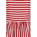 Collectif Candice Striped Red and White Swing Dress