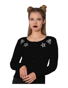 Banned Alternative Sulphur Gothic Black Cardigan