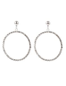 Midcentury Missy 50s Diamante Crystal Hoop Earrings