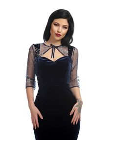 Collectif Blue Velvet Net Belle Stardust Evening Bolero