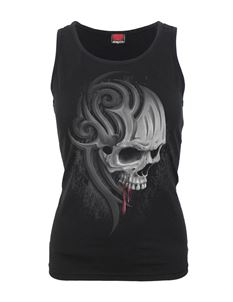Spiral Direct Death Roar Skull Razor Back Vest Top