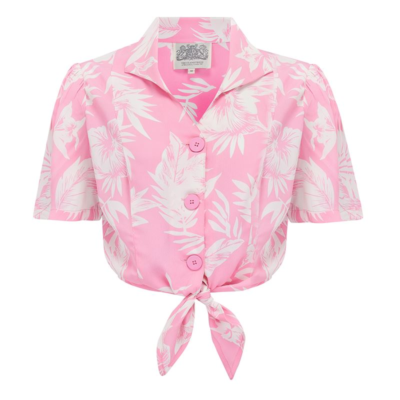 Marilyn Blouse Pink - The Seamstress of Bloomsbury