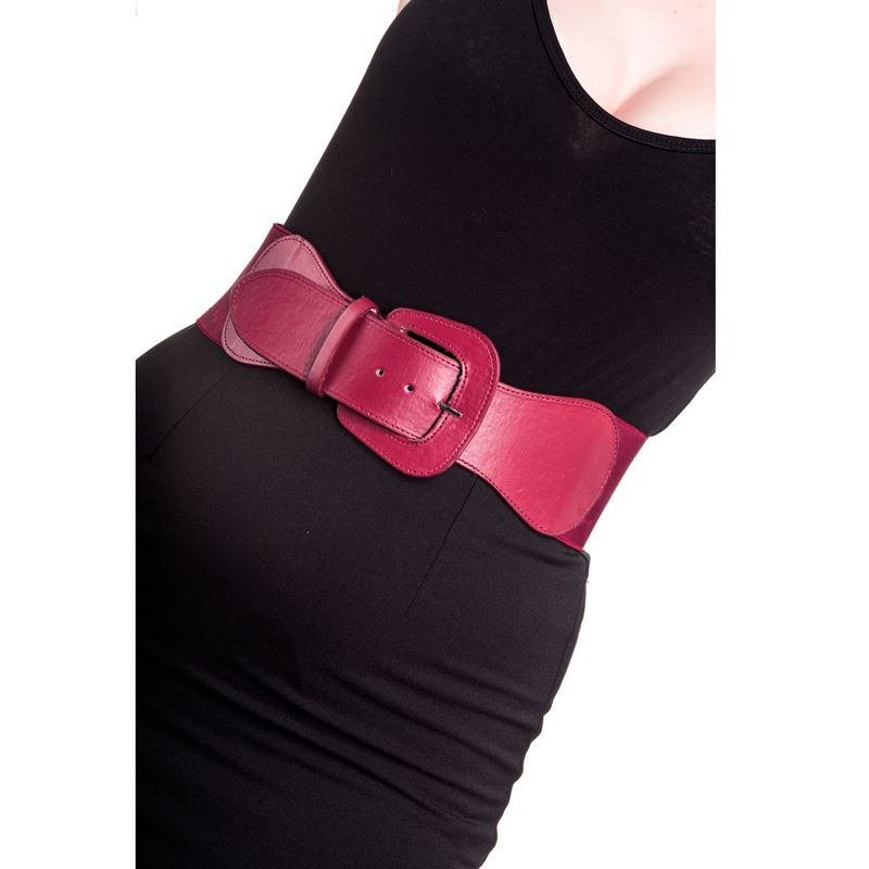 Hell Bunny Rizzo 50s Style Elasticated Buckle Belt
