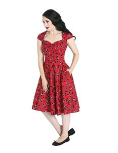 Hell Bunny Alison Cherry 50s Rockabilly Dress