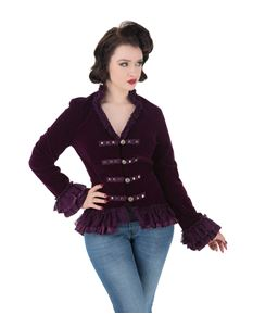 H&R London Victorian Alternative Velvet Tail Jacket