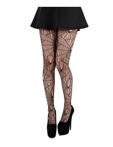 Pamela Mann Cobweb Pattern Black Net Tights