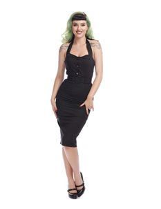 Collectif 40s 50s Wanda Black Pencil Dress