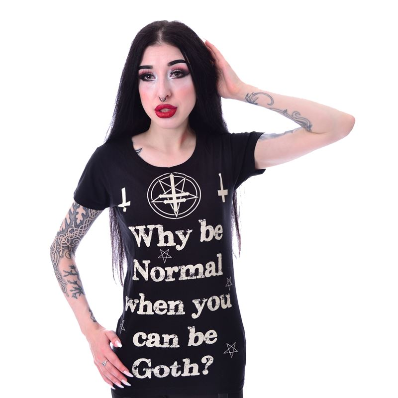 Heartless Why Be Normal Goth Short Sleeve T-Shirt