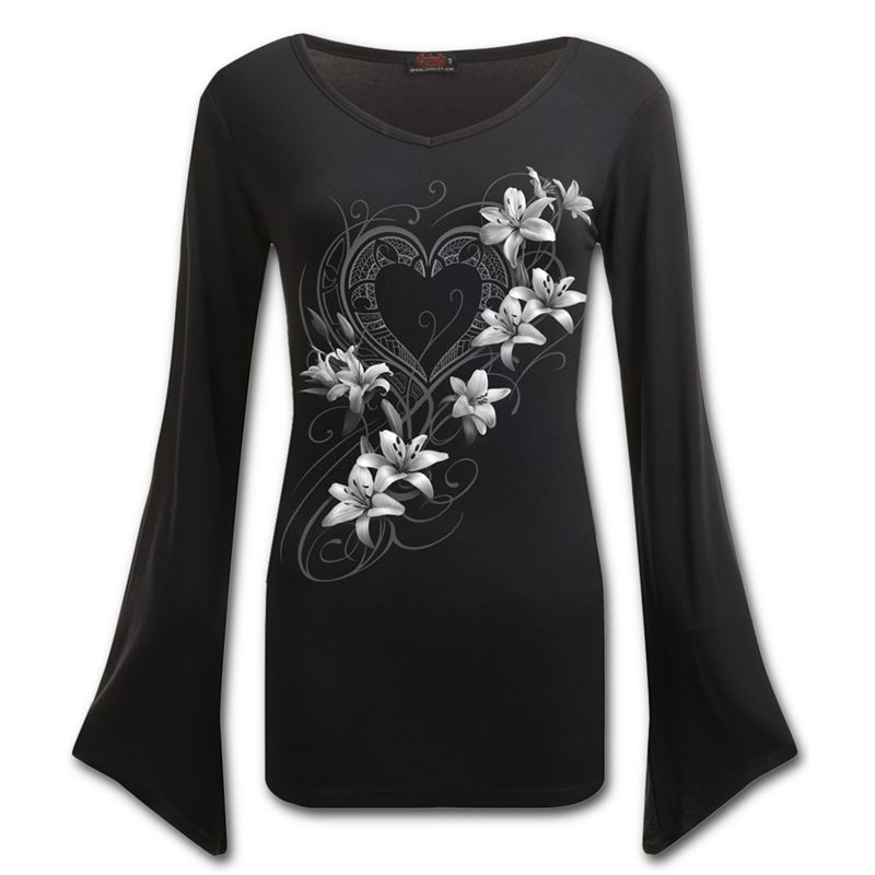 Spiral Direct Pure of Heart V Neck Long Sleeve Top