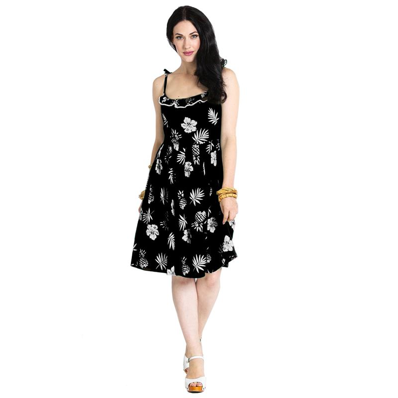 Hell Bunny Tropicana Floral Summer Strappy Dress