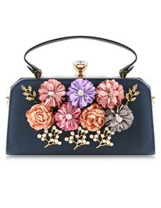 Love Me Floral Cross Body Bag In Blue