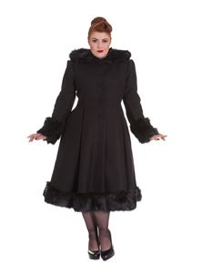 Hell Bunny - Black Elvira Coat Plus Size