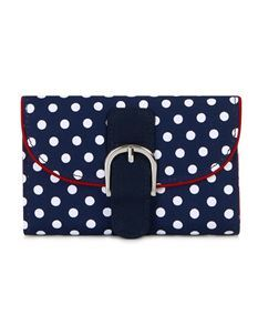 Ruby Shoo Garda Blue Polka Dot Purse