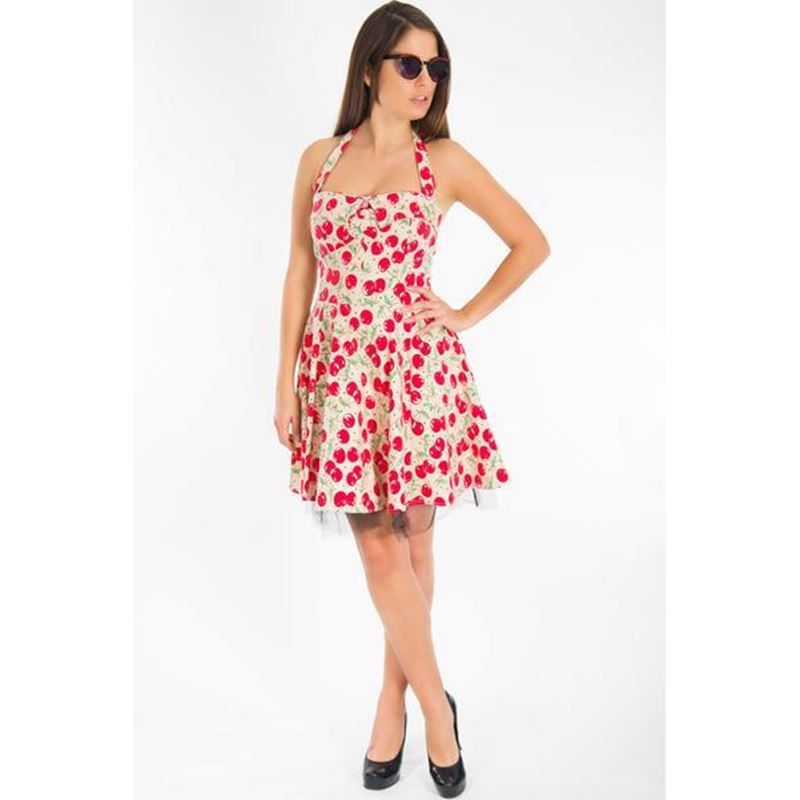 Bettie Vintage 50's Cherry Rockabilly Mini Swing Dress