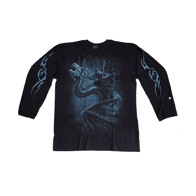 Spiral Direct Mens Shadow Rider Long Sleeve T Shirt