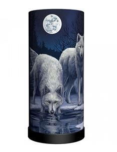 Nemesis Now Warriors of Winter Wolf Bedside Table Lamp