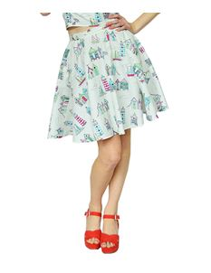 Black Sheep Beach Huts Circle Skirt