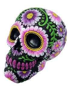 Nemesis Now Sugar Petal Day Of The Dead Skull Ornament