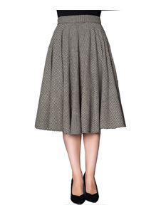 Sheen Sophie 50s Houndstooth Circular Skirt