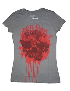 Iron Fist Ladies Necromance Skinny T Shirt Grey