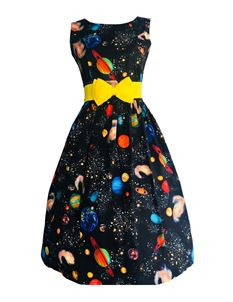 Silly Old Sea Dog 1950s Space Planets Dress
