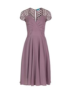 Eucalyptus Vintage Inspired A-Line Dusty Pink Chiffon Evening Dress