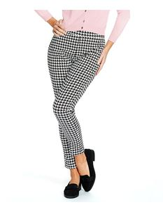 Lindy Bop Bethan Dog Tooth Ankle Grazer Trousers UK 10