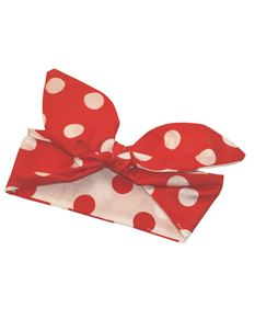 Gas Axe Inc Polka Dot Rockabilly Red And White Head Scarf Tie