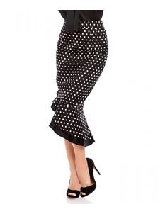 Dolly And Dotty Black Polka Dot Madison Ruffle Skirt