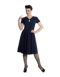Hell Bunny Riley 40s Wartime Vintage Style Dress