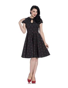 Hell Bunny Sophie Cherry Polka Dot Summer Dress