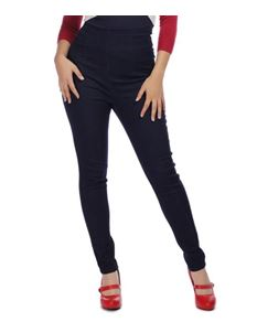 Collectif Lara 50s Style Navy High Waisted Jeans