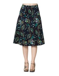 Dancing Days Proud Peacock Floral A-Line Skirt Blue