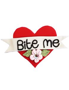 Guns N Posies Bite Me Heart Brooch
