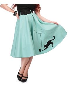 Collectif Kitty Cat 1950s Swing Skirt