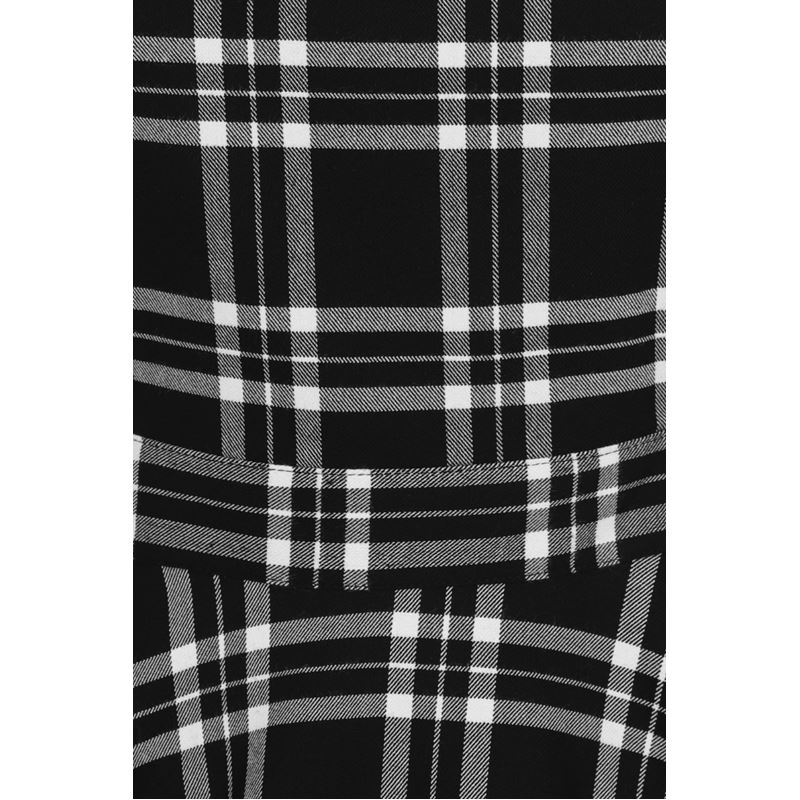 Hell Bunny Islay Tartan Check Mini Pinafore Dress